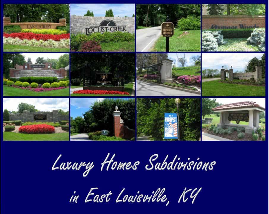 Luxury Homes Louisville KY Estate Properties for sale in East Louisville KY Prospect KY and Oldham County Kentucky